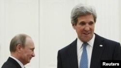 Президент России Владимир Путин и Госсекретарь США Джон Керри, Москва, 7 мая