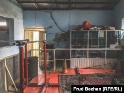 Inside the Maiwand Wrestling Club in Kabul.