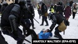 Акция протеста в Петербурге, 31.01.2021