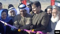 همایون عزیزی والی قندهار و جمعه محمد عبدالله الکعبی سفیر امارات