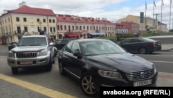 Belarus, Minsk, parking near regional administration