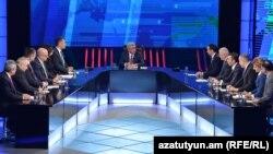 Серж Саргсян отвечает на вопросы представителей армянских телеканалов, 2 декабря 2015 г․