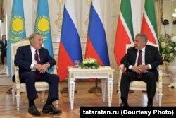 Нурсултан Назарбаев и Рустам Минниханов
