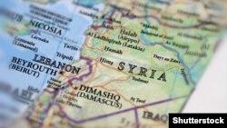Сирия на карте.