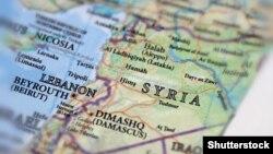 Картадағы Сирия (Көрнекі сурет).