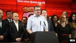 Претседателот на ВМРО-ДПМНЕ, Христијан Мицкоски.