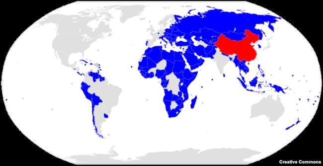 """Страны мира, к 2020 году подписавшие с КНР соглашения в рамках концепции """"Пояс и путь"""""""