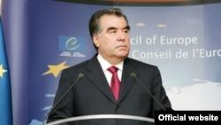 Президент Таджикистана Эмомали Рахмон в Страсбурге.