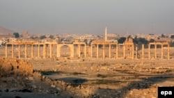 Pamje nga qyteti i lashtë sirian, Palmira