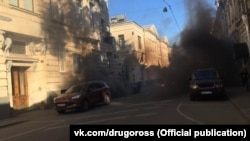 Напад на будівлю посольства Латвії в Москві, Росія, 9 травня 2018 року