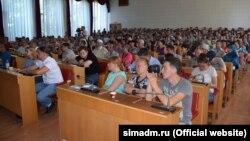 Общественные слушания по вопросу строительства микрорайона «Крымская роза». Симферополь, 5 августа 2017 года