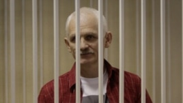 Ales Byalyatski during his trial in Minsk in November 2011
