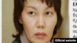 Фотография экс-председателя статагентства Анар Мешимбаевой с сообщением о ее розыске на сайте финансовой полиции.