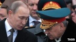 Сергей Шойгу с российским президентом.