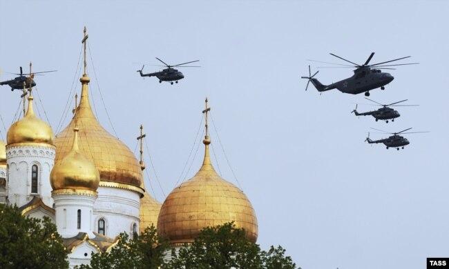 Ми-26 над Москвой, май 2014 года