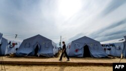 Табір біженців зі східної України біля російського міста Донецьк, серпень 2014 року