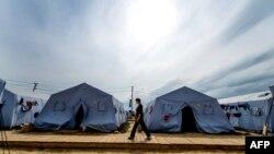 Лагерь беженцев в Ростовской области, 18 августа 2014 года