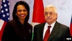 محمود عباس مخالفت خود با تشکیل مرزهای موقت را به کاندولیزا رایس ابراز کرد.