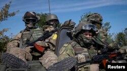 Membri ai forțelor speciale ucrainene, Kramatorsk, 4 september 2014