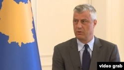 Kosovar President Hashim Thaci made his remarks to RFE/RL, days after a summit of Balkan leaders in Berlin.