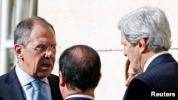 "US Secretary of State John Kerry said his talks with Russian Foreign Minister Sergei Lavrov on the crisis in Crimea were ""tough."""