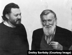 Ігор Померанцев, письменник, батько Пітера Померанцева (ліворуч) та Андрій Синявський, радянський дисидент, письменник, політичний в'язень, емігрант