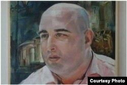 Портрет мэра Кутаиси, художник Леван Гогитадзе