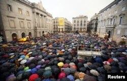 La un protest la Barcelona