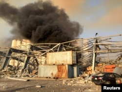 Бейрутта жарылыс болған аймақ. 4 тамыз 2020 жыл.