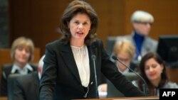 Kryeministrja e Sllovenisë, Alenka Bratushek.