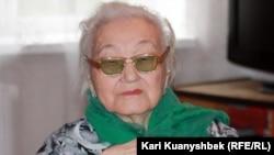 Ишагы Жагыпаркызы, правнучка Абая. Алматы, 3 августа 2012 года.