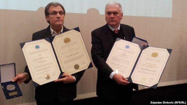 Zekerijah Smajić i Adil Kulenović na dodjeli nagrada, 29. januar 2013.