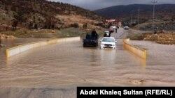فيضانات في شوارع دهوك