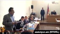 Արթուր Սաքունցը միջնորդություն է ներկայացնում, Գյումրի, 18-ը հունվարի, 2016թ.
