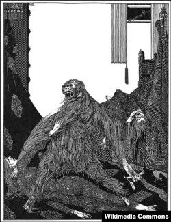"""Убийство на улице Морг"". Иллюстрация Гарри Кларка. 1931"