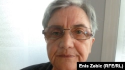 Predsjednica Udruženja obitelji Srba nestalih u Hrvatskoj Marica Šeatović, 18. srpanj 2012.
