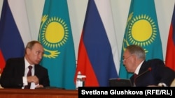 Ресей президенті Владимир Путин мен Қазақстан президенті Нұрсұлтан Назарбаевтың кездесуі. Астана, 15 қазан 2015 жыл.