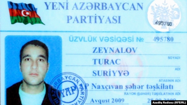 Naxcivan airport worker Turac Zeynalov claimed to have seen an Azerbaijani arms shipment destined for the PKK. Then he was arrested and died in custody.