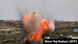 Один із останніх повітряних ударів Росії перед перемир'ям – по селищу Аль-Бара на півдні провінції Ідліб, 5 березня 2020 року