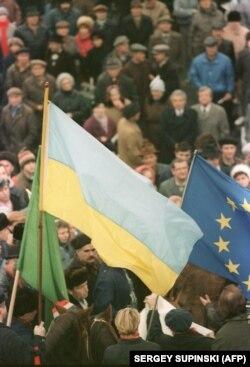 Мітинг у Києві 30 листопада 1991 року – в переддень референдуму за Незалежність 1 грудня