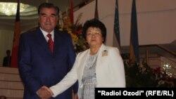 Эмомалӣ Раҳмон ва Роза Отунбоева. Душанеб, 2 сентябри соли 2011
