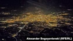 Варшава от пилотската кабина