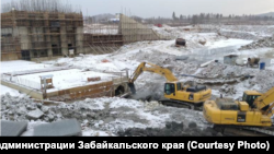 Строительство плотины водоснабжения целлюлозного завода на р. Амазар
