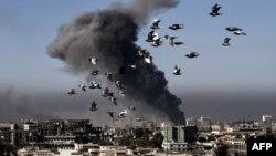 Во время боя на западном берегу в Мосуле, 6 марта 2017 года