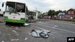 На месте автокатастрофы под Подольском. 13 июля 2013 г.
