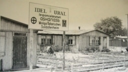 Germany -- The Volga-Tatar Legion (Legion Idel-Ural) barracks and mess hall during WWII, undated