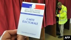 Kartela zgjedhore në votimet në Francë