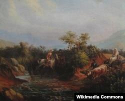 Qafqaz həyatından səhnə. 1838