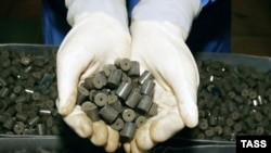 Fuel pellets produced at the Ulba Metallurgical Works in Kazakhstan.