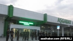 Aşgabadyň halkara aerporty.